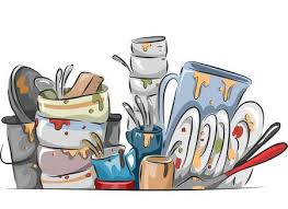 dishes in sink clipart. Delighful Dishes Illustration Of A Stack Dirty Dishes Waiting To Be Washed And In Sink Clipart D