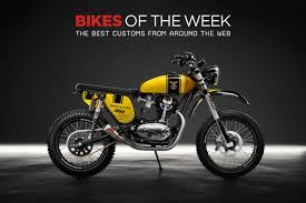 custom bikes of the week 12 august 2018 the best cafe racers scramblers