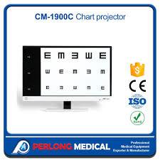 Eye Check Up Chart Distance Hot Item Cm 1900c Eye Exam Equipment Distance Vision Charts