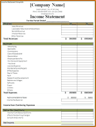 financial statement template for excel income statement template excel financial statement effects template