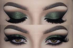 olive green eye makeup look