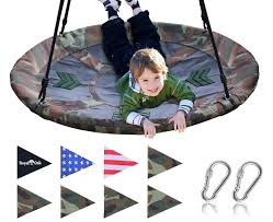 Giant Saucer Swing in Elite Camo with Bonus Carabiners and Flags - Royal  Oak Store