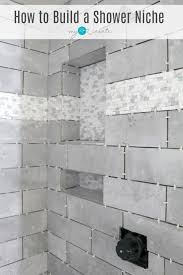 how to build a shower niche one room challenge week 4