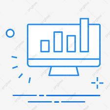 Icon Computer Data Chart Illustration Service Financial