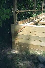 building a wooden retaining wall diy wood retaining wall