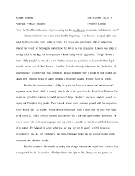 abraham lincoln dred scott essay abraham lincoln dred scott essay kristine jimenez due 26 2015 american political thought professor koenig from the dred