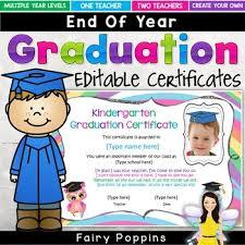 Preschool Graduation Certificate Editable Editable Graduation Certificates Cute Owl Theme By Fairy Poppins