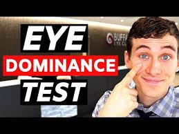 Eye Dominance Chart Do You Have Cross Eye Dominance