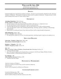 Unusual Family Physician Resume Samples Images Example Resume And