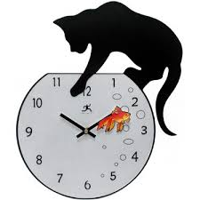 unusual clocks cat clock
