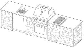 outdoor kitchen layout drawing