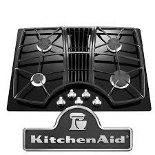 kitchenaid architect series ii kgcd807xbl 30 wide 4 burner downdraft gas cooktop