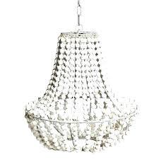 white beaded chandelier wood bead ball