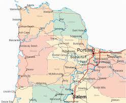 Oregon Coast Map Of Cities Secretmuseum