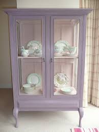 Hutch Display Cabinet Shabby Chic Vintage Glass Display Cabinet Painted With Annie Sloan