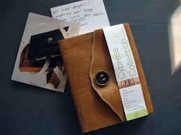 leather sketchbook from etsy bookbinder toboldlyfold handwritten