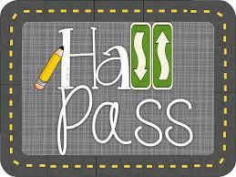 School Hall Pass Template Downeast Teach Hall Pass Linky