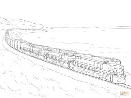 Coloring Pages Train Freight Page Free Printable Arilitv Com