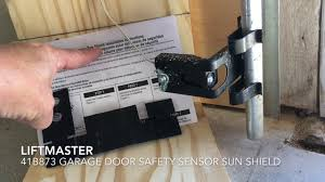 garage door sensorHow to Install Garage Door Safety Sensor Sun Shield  YouTube