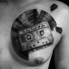 Music Tattoo Black Grey Tape Record X Tatuajes