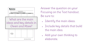 Lesson 13: Main idea and key details | LearnZillion