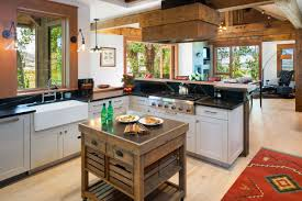 rustic kitchens with islands. View In Gallery Rustic Kitchens With Islands T