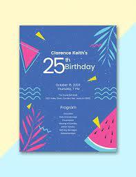 Fotor provides unique 30th birthday party program free design templates. 12 Birthday Program Templates Pdf Psd Free Premium Templates