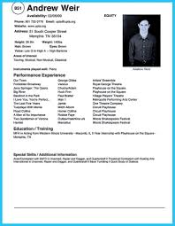Beginner Actor Resume Template Child Acting No Experience Word Stock