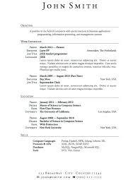 Blank Resume Sample Letter Resume Directory