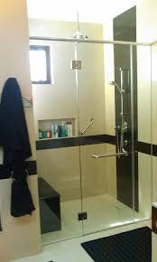 semi frameless sliding shower screen