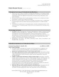 Classy Impressive Resume Summary About Project Management Resume
