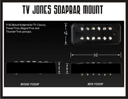 tv jones classic. the soapbar mount uses same size cover as a stock p-90 but with tv jones pickup under hood. retro-fits in any guitar equipped tv classic c