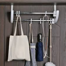 Strong Coat Rack Cool Double Row Door Back Hook Door Hanger Hangers Bathroom Free Hanging