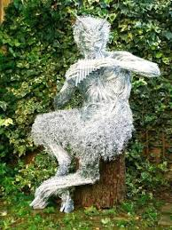 outdoor garden statues. Steel Garden Ornaments Wire By Foster Titled The Great God Pan Outdoor Fawn Statue Statues