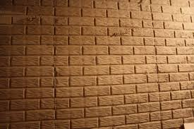 image of how to paint poured concrete basement walls to look like brick