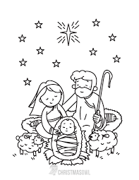 Free Nativity Coloring Pages At Getdrawingscom Free For Personal