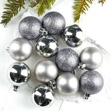 Silver Balls Decor Impressive Silver Ball Ornaments Assorted Silver Ball Ornaments Ornaments And