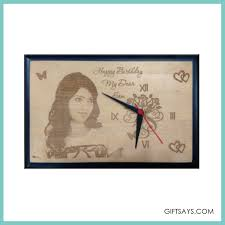 personalized wooden engraved clock4 unique special gift