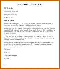 Letters For Scholarships Write Cover Letter For Scholarship Scholarship Cover Letters