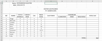 Membuat laporan penggajian karyawan sangat mudah dilakukan. Tutorial Membuat Rumus Gaji Pada Microsoft Excel Refrxx