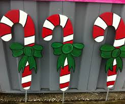 top candy cane pc holiday wooden yard art similiar wooden yard design ideas of candy cane