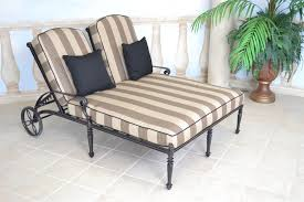 image of double chaise lounge outdoor furniture cushions