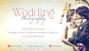 Wedding Photography Business Card Template Templates Psd Free