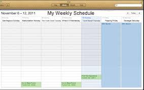 My Weekly Schedule My Weekly Schedule