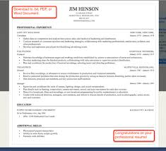 finished resume from resume builder builder resume