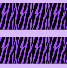 Attractive ZEBRA PRINT DECAL Sticker Purple Wallpaper Border Wall Decor Girls Teen  Room Baby Animal Stripes Nursery
