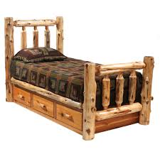 Log Bedroom Furniture Leann Twin Loft Bed Bed Drawers Home And Under Bed