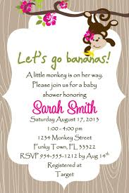 Free Printable Sock Monkey Baby Shower Invitations Templates