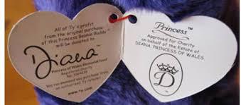 Ty Beanie Babies Princess Diana Bear Versions Values