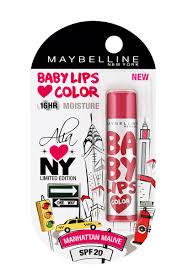 maybelline new york lip balm maybelline new york alia loves new york baby lips in india nykaa